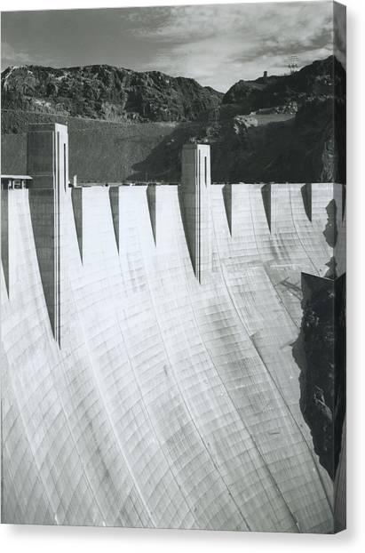 Boulder Dam Power Unit, 1941 Canvas Print by Archive Photos