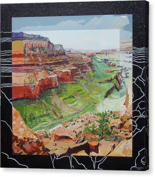Canvas Print featuring the painting Boundary Series Vi by Thomas Stead