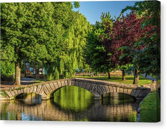 Bourton-on-the-water, Gloucestershire Canvas Print by David Ross