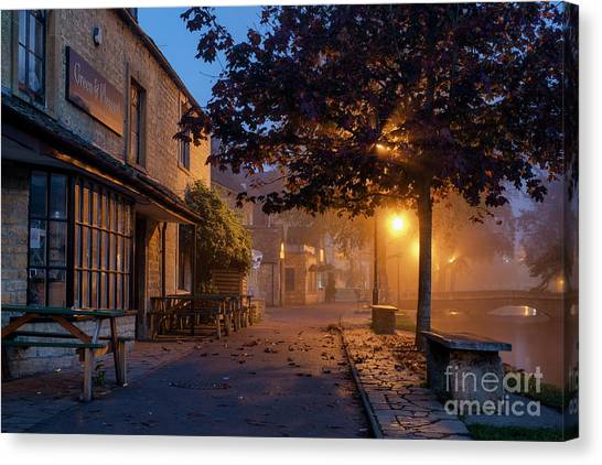 Bourton On The Water October Morning Canvas Print by Tim Gainey