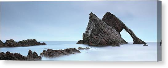 Canvas Print featuring the photograph Bow Fiddle Rock In The Twilight by Grant Glendinning