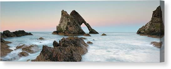 Canvas Print featuring the photograph Bow Fiddle Rock Sunset - Port Knockie by Grant Glendinning