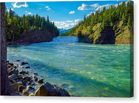 Bow River In Banff Canvas Print