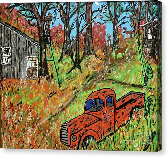Canvas Print - Old Farm Bowhunting  by Jeffrey Koss