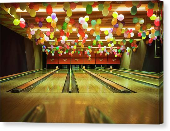 Bowling Canvas Print by Olive