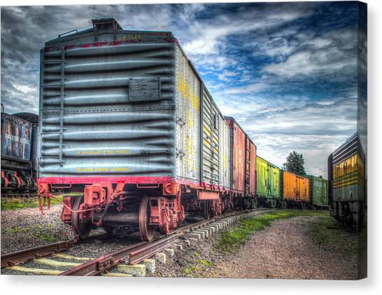 Box Cars Canvas Print by G Wigler