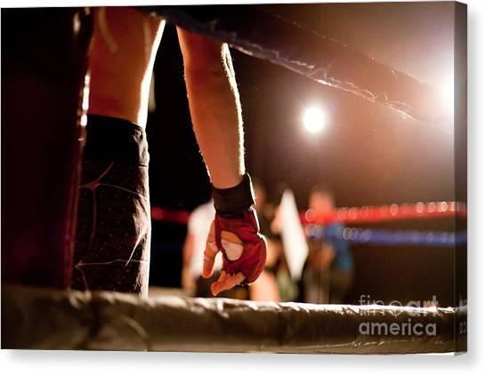 Exercising Canvas Print - Boxing Match by Aerogondo2