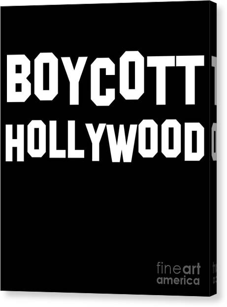 Boycott Hollywood Canvas Print