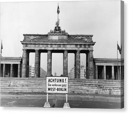 Brandenburg Gate Canvas Print by John Waterman