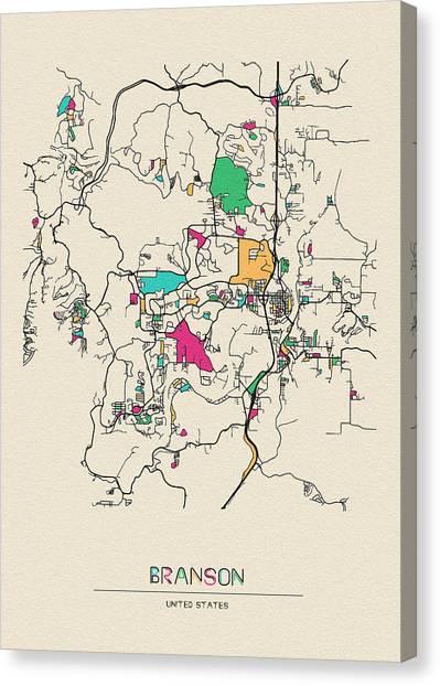 Branson Missouri Canvas Prints Fine Art America - Branson-missouri-on-us-map