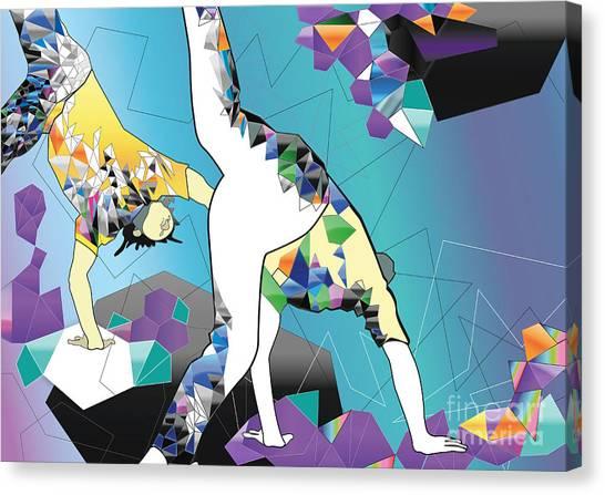 Performing Canvas Print - Brazilian People Playing Capoeira by Liya Zonova