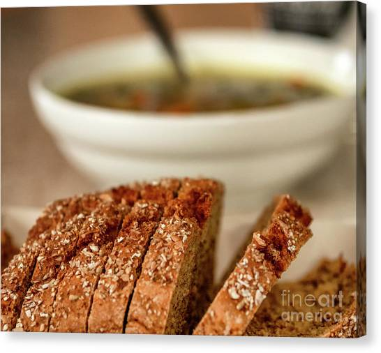 Bread And Soup Canvas Print