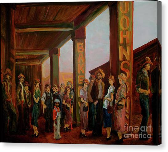 Bread Line Canvas Print