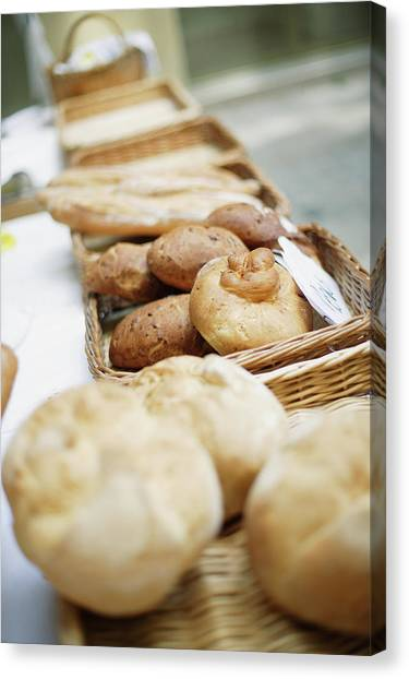 Buns Canvas Print - Breads For Sale On Table by Floresco Productions