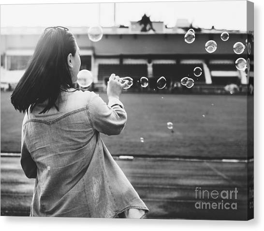 Happiness Canvas Print - Break Explore Female Fun Journey Joy by Rawpixel.com