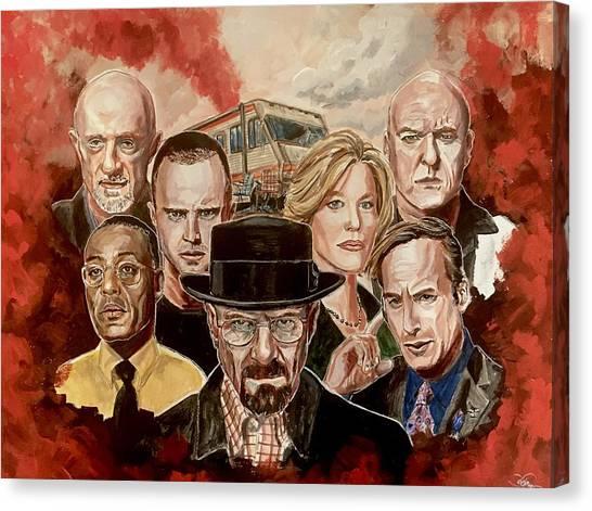 Breaking Bad Family Portrait Canvas Print