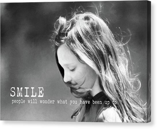 Breeze Quote Canvas Print by JAMART Photography