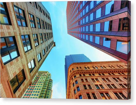 Brick And Mortar Skyward Canvas Print