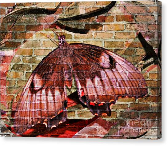 Canvas Print featuring the mixed media Brick In The Wall by Sabine ShintaraRose