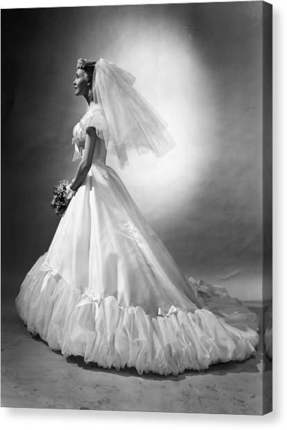 Wedding Bouquet Canvas Print - Bridal Wear by Chaloner Woods