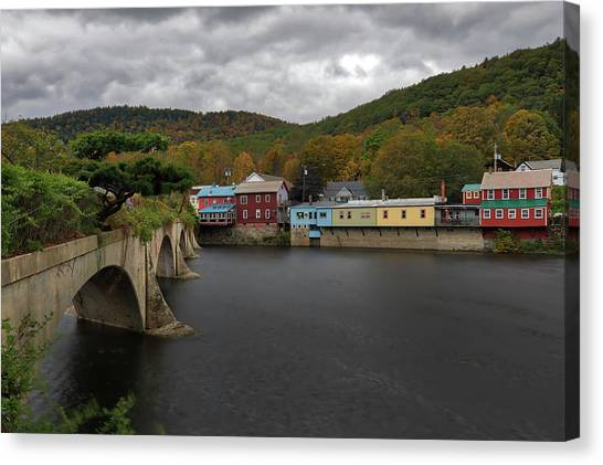 Canvas Print featuring the photograph Bridge Of Flowers by Juergen Roth