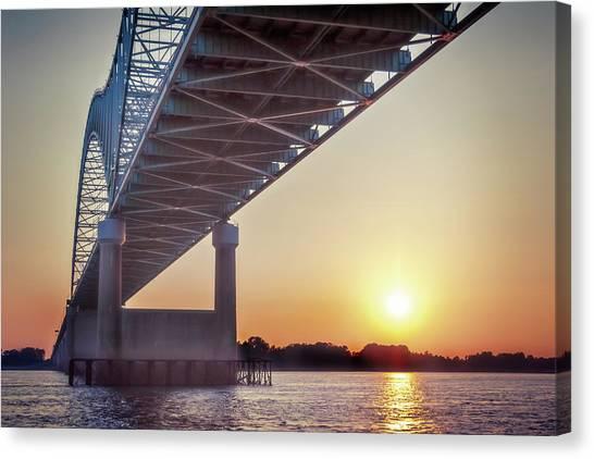 Bridge Over Mississippi River Canvas Print
