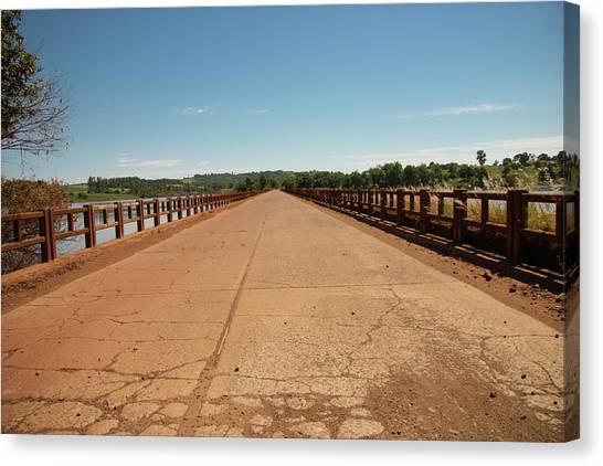 Rio Grande River Canvas Print - Bridge Over The  Ijuí River by Dircinhasw