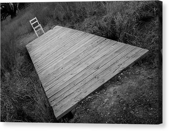 Canvas Print featuring the photograph Bridge / The Chair Project by Dutch Bieber