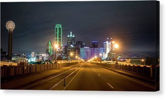 Canvas Print featuring the photograph Bridge To Dallas by David Morefield