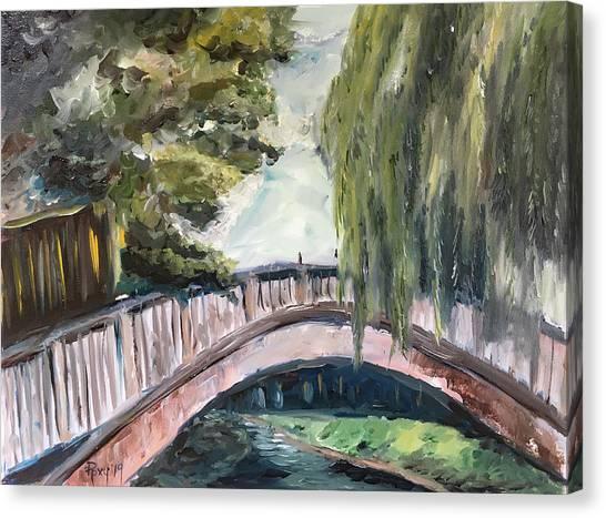 Farmhouse Canvas Print - Bridge To Dorking by Roxy Rich