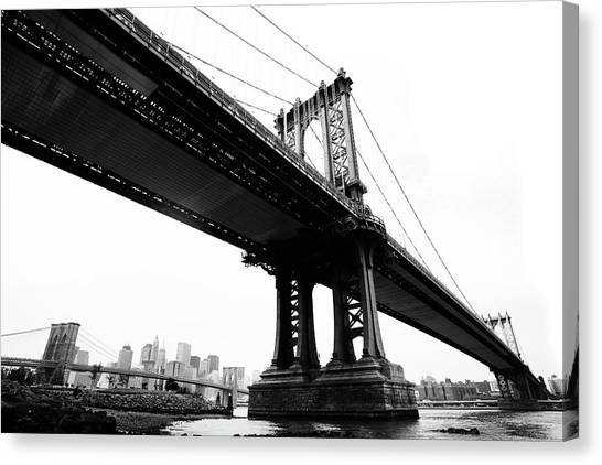 Bridges Canvas Print by Blackwaterimages