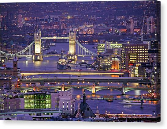 Bridges Of London Canvas Print