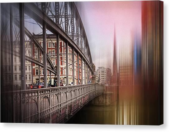 Warehouses Canvas Print - Bridges Of Speicherstadt Hamburg Germany  by Carol Japp
