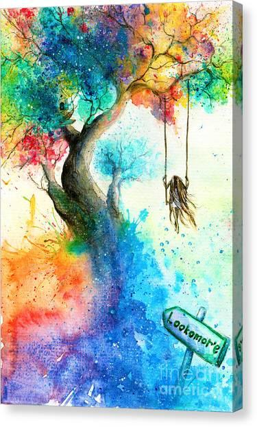 Realistic Canvas Print - Bright Colorful Fantasy Painting Of A by Tanya Shatseva
