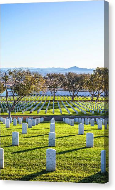 Fort Rosecrans National Cemetery Canvas Print - Bright Memories by Joseph S Giacalone