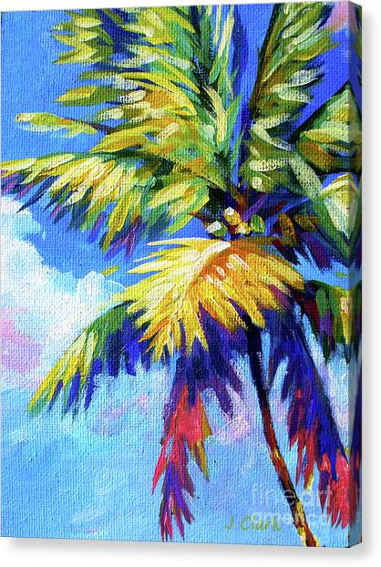 Islands Canvas Print - Bright Palm by John Clark