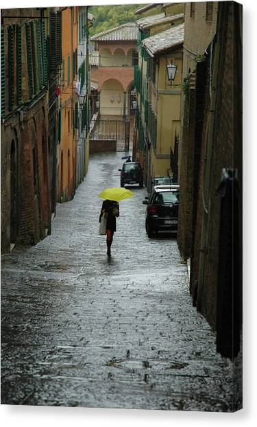 Bright Spot In The Rain Canvas Print