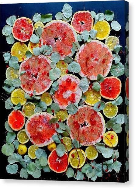 Brighter Days Citrus Canvas Print