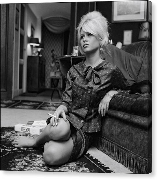 Brigitte Bardot Canvas Prints Fine Art America