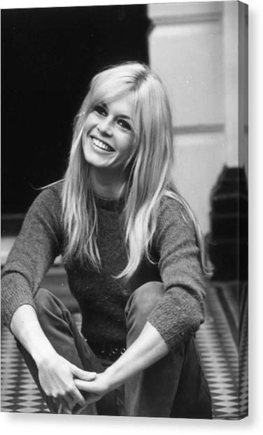 Brigitte Bardot Canvas Print by Cattani