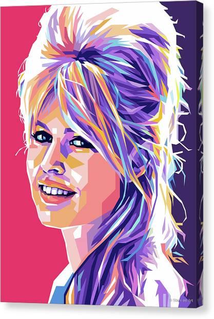 Brigitte Bardot Pop Art Canvas Print