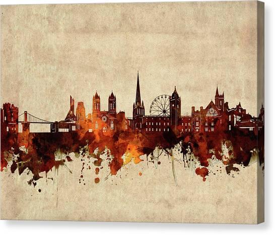 Bristol Canvas Print - Bristol Skyline Sepia by Bekim M