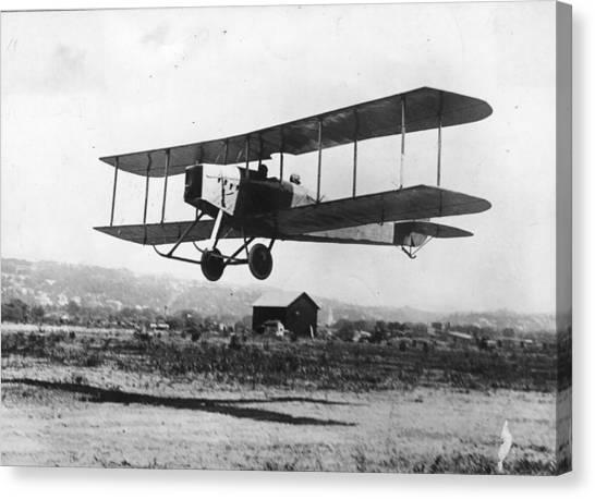 British Bi-plane Canvas Print by Hulton Archive