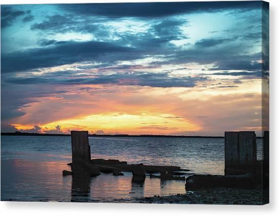 Broken Sunset Canvas Print
