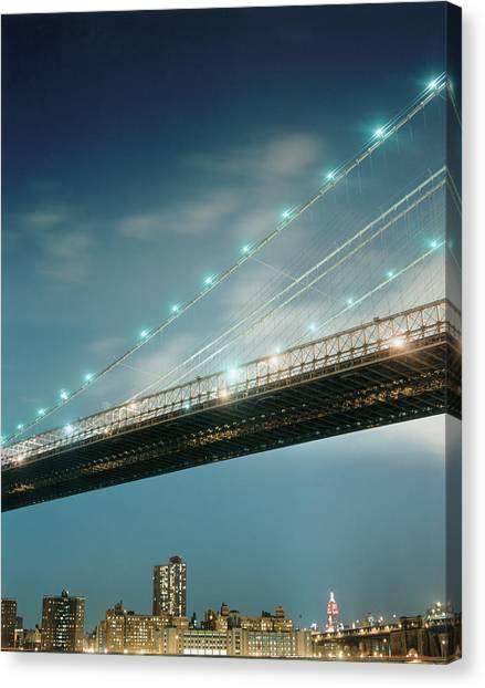 Brooklyn Bridge Canvas Print by Silvia Otte