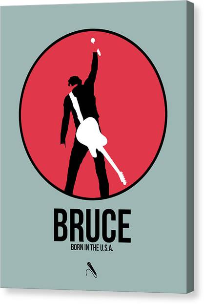 Rock Music Canvas Print - Bruce Springsteen by Naxart Studio