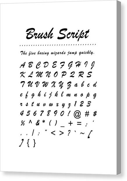 Brush Script - Most Wanted Canvas Print