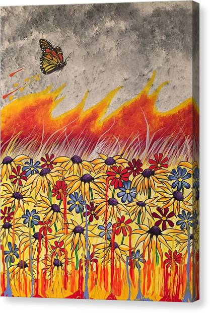 Brushfire Canvas Print