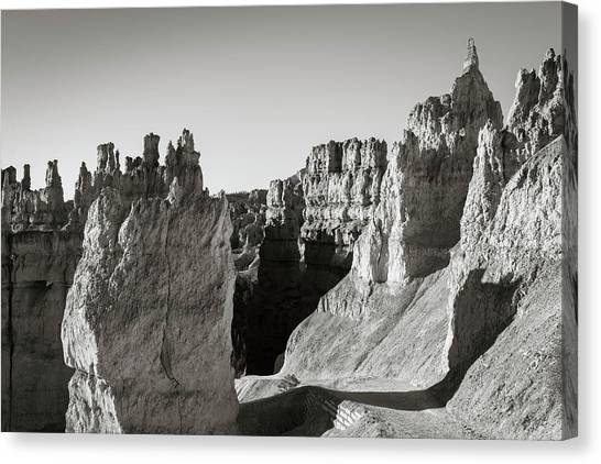 Canvas Print featuring the photograph Bryce Canyon Np Ix Bw by David Gordon