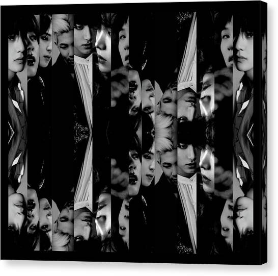 Bts - Bangtang Boys Canvas Print